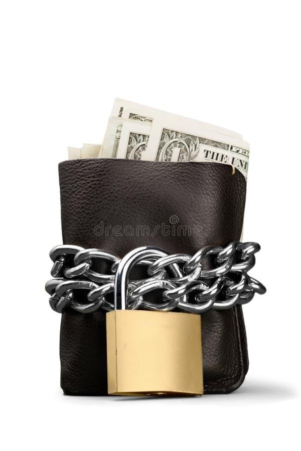 Download Banconote In Dollari In Un Portafoglio Con Il Lucchetto E La Catena Fotografia Stock - Immagine di padlock, misura: 117980736