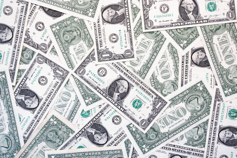 Banconote in dollari una dalla parte anteriore e dai precedenti posteriori e semplici fotografia stock