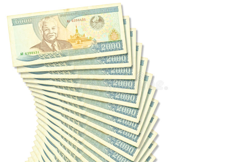 Banconote Laos fotografie stock libere da diritti