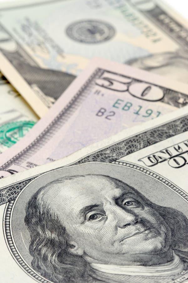 Banconote a macroistruzione immagini stock