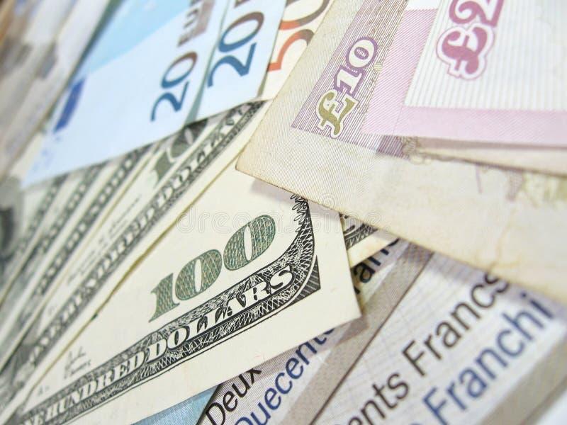 Banconote - soldi del mondo fotografia stock libera da diritti