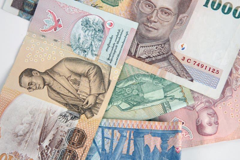 Banconote tailandesi a macroistruzione fotografia stock libera da diritti