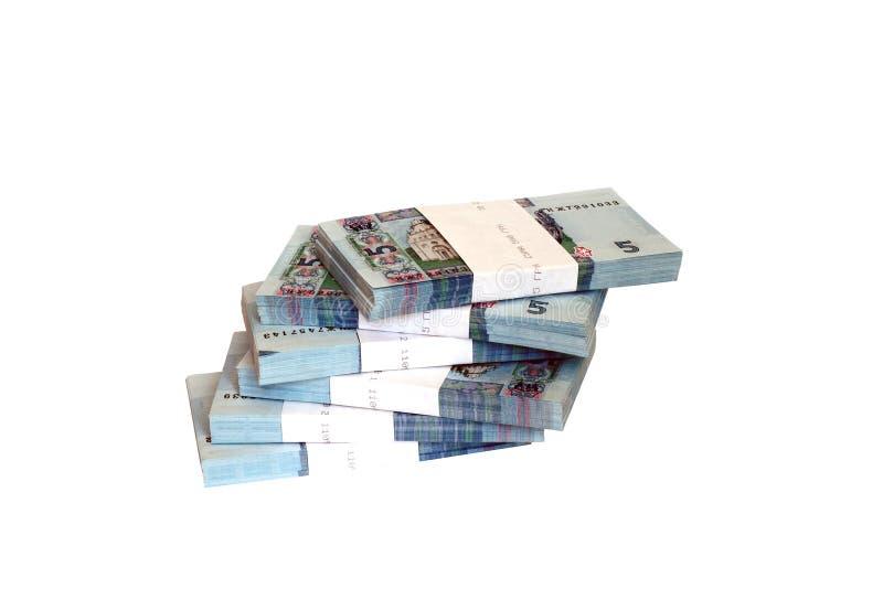 Banconote ucraine nei pacchetti fotografie stock