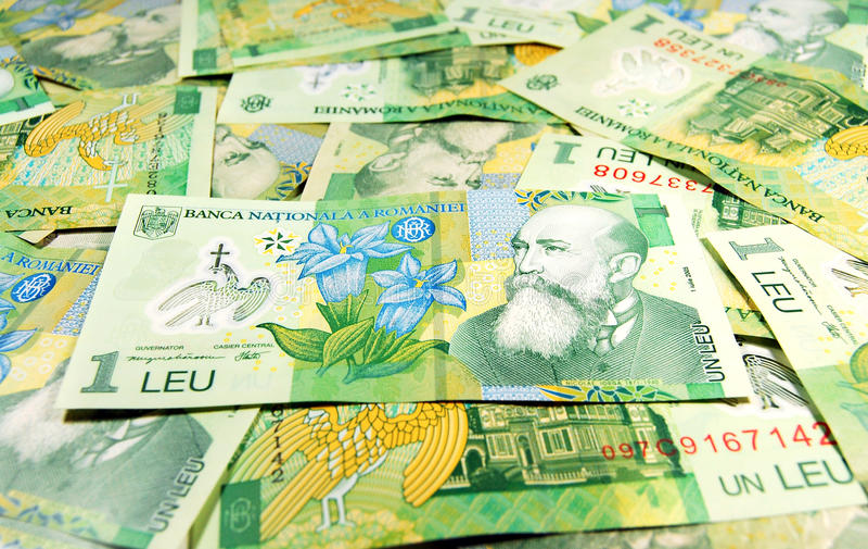 Banconotes roumains photos stock