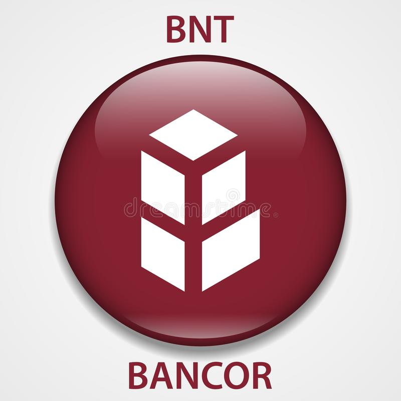 Bancor-Münze cryptocurrency blockchain Ikone Virtuelles elektronisches, Internet-Geld oder cryptocoin Symbol, Logo vektor abbildung