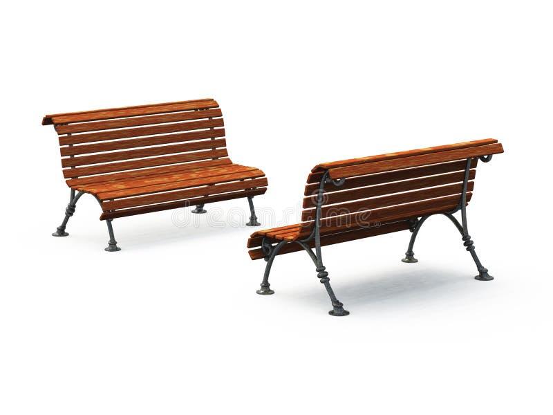 Bancos de parque vacíos libre illustration
