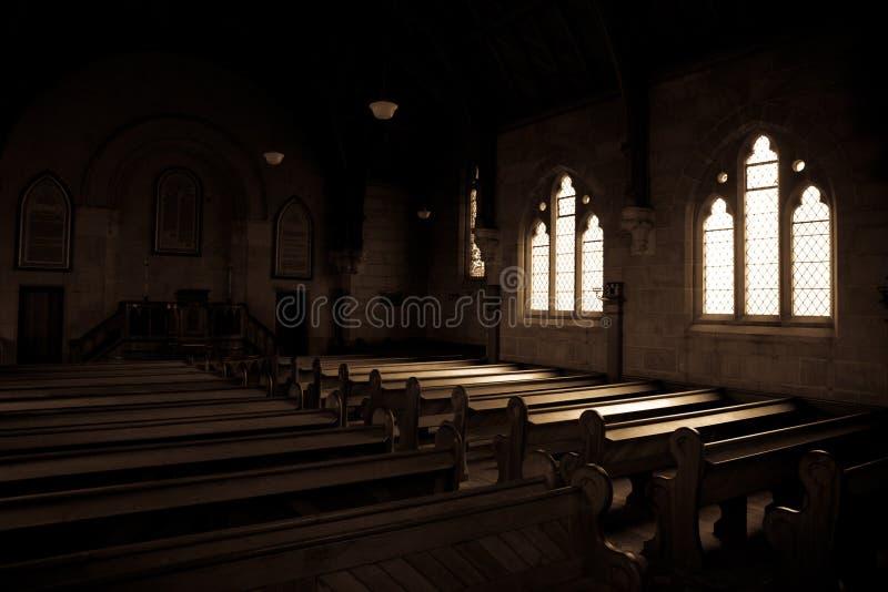 Bancos en la iglesia de unión de Ross imagen de archivo