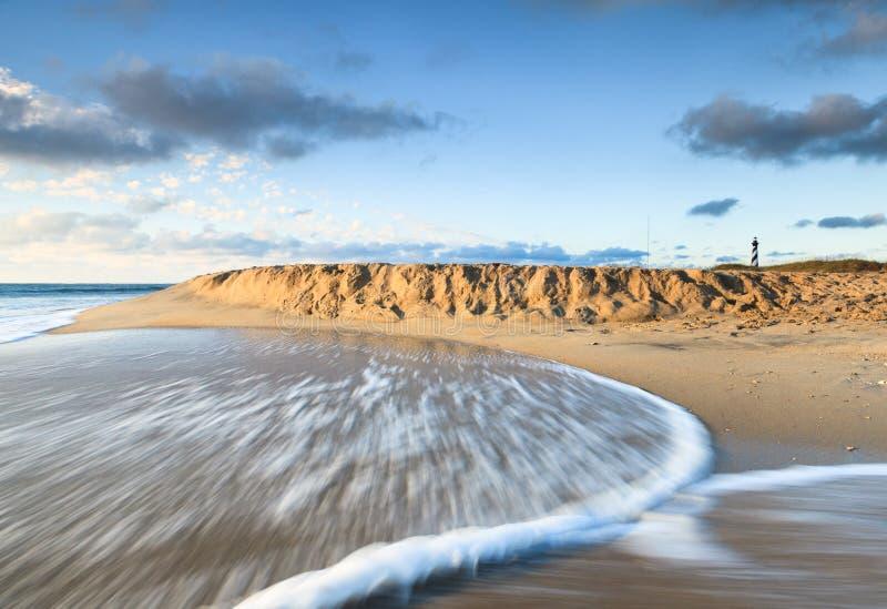Bancos exteriores North Carolina do fundo da praia foto de stock royalty free