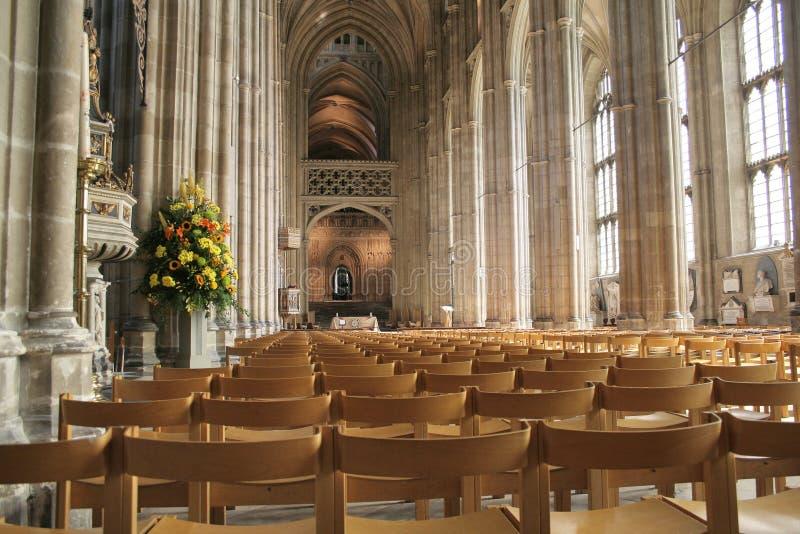 Bancos na catedral de Canterbury imagem de stock royalty free