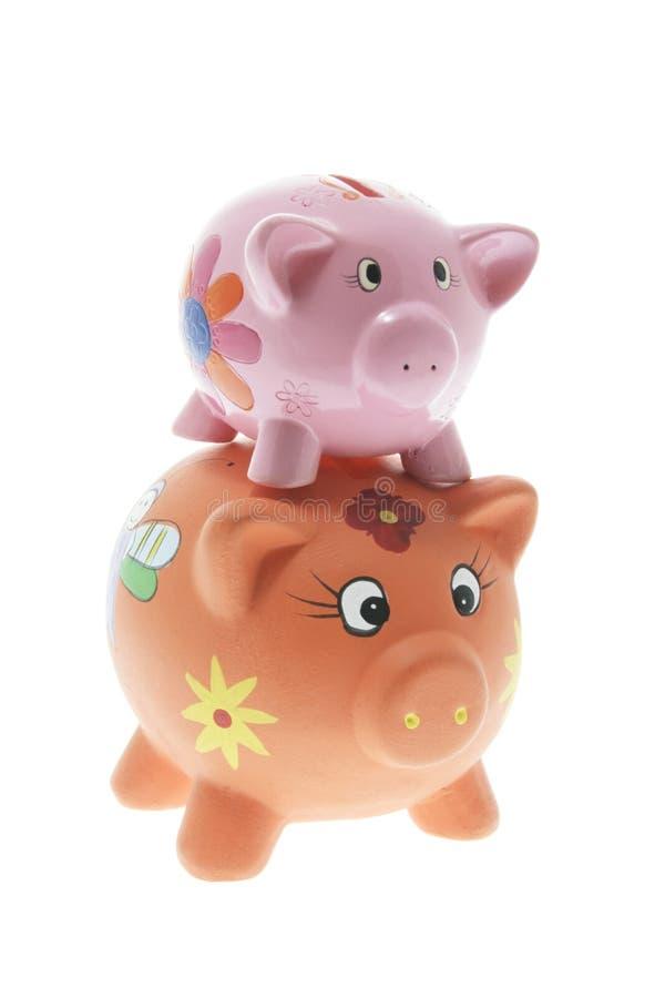Bancos Piggy fotos de stock