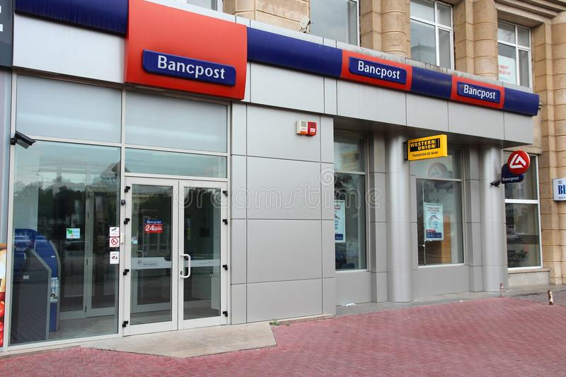 Bancpost bank in Romania royalty free stock image