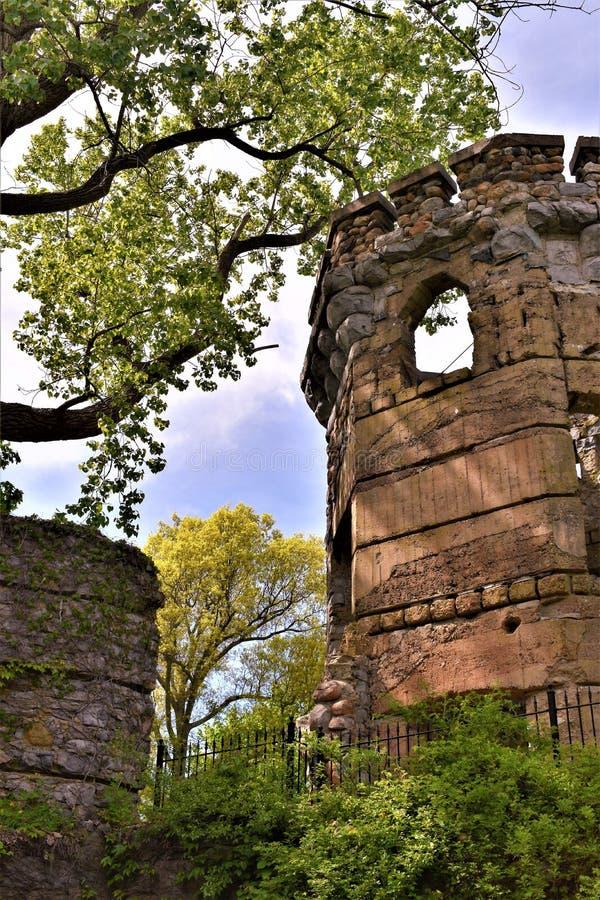 Bancroft城堡, Groton,密德萨克斯郡,马萨诸塞,美国镇  库存照片