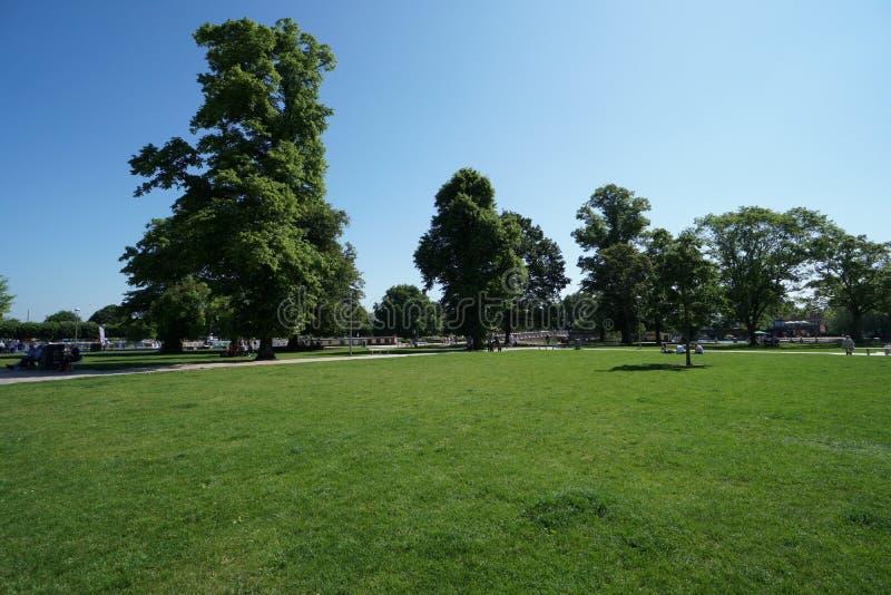 Bancrofttuinen op Rivier Avon stock afbeelding