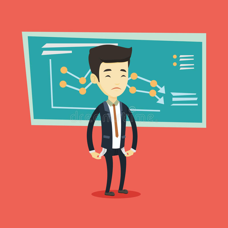 Bancrupt bedrijfsmensen vectorillustratie stock illustratie
