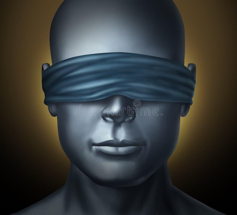Bandé les yeux illustration libre de droits