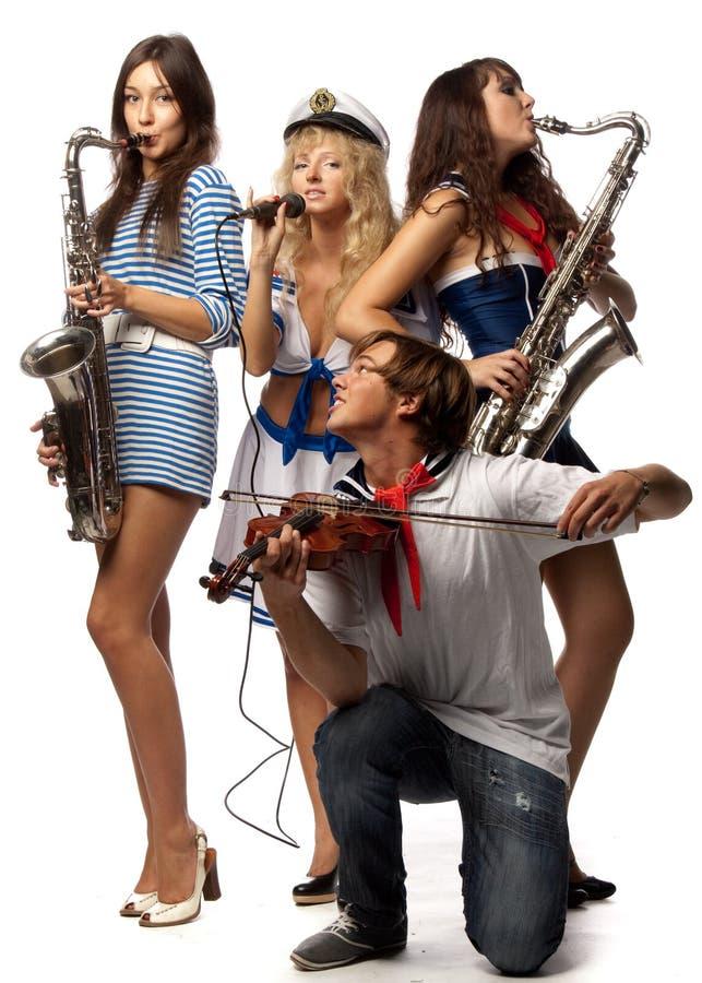 band royaltyfri foto
