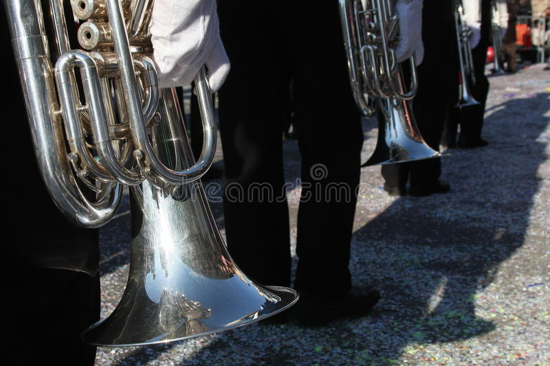 Download The band stock image. Image of trumpet, glove, gray, black - 22161167