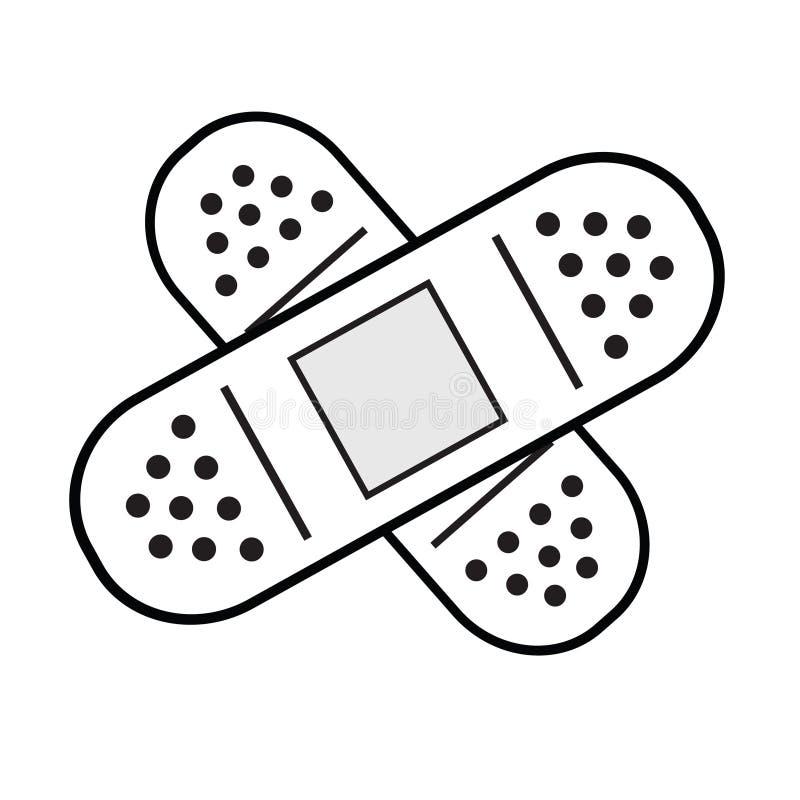 Band-aid royalty free illustration