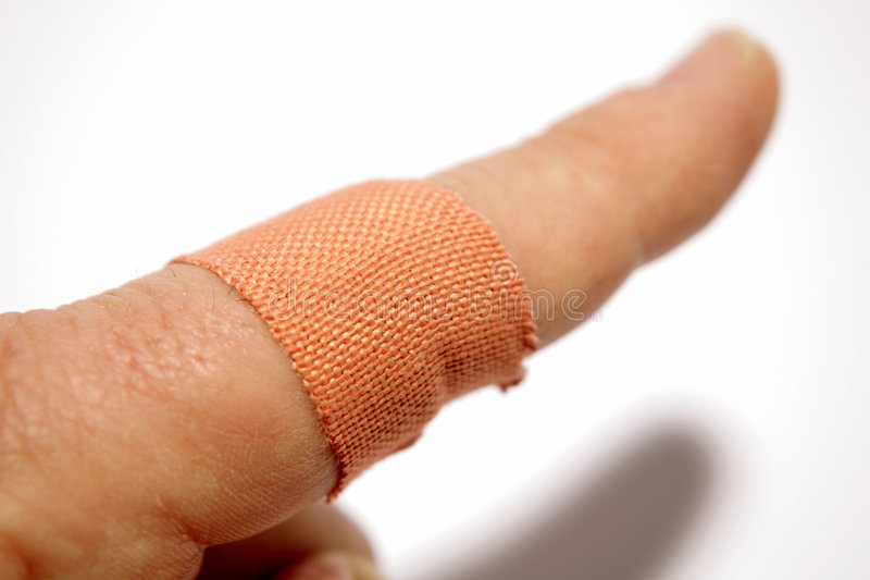 Download Band-aid on finger stock image. Image of finger, hand - 5498463