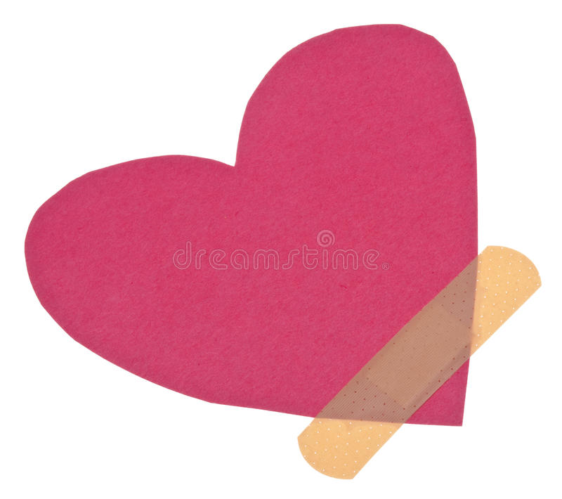 Download Band Aid Over A Broken Heart Stock Photo - Image: 14980942