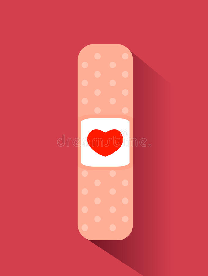 Free Band Aid With Heart Design Royalty Free Stock Images - 81955609
