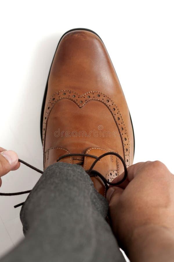 Band av skosnöre royaltyfria foton