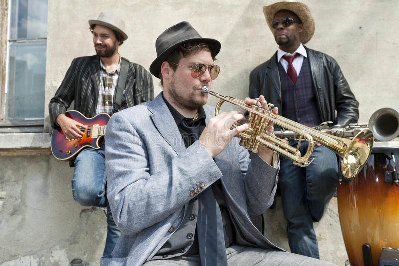 Band of blues musicians royalty free stock photos