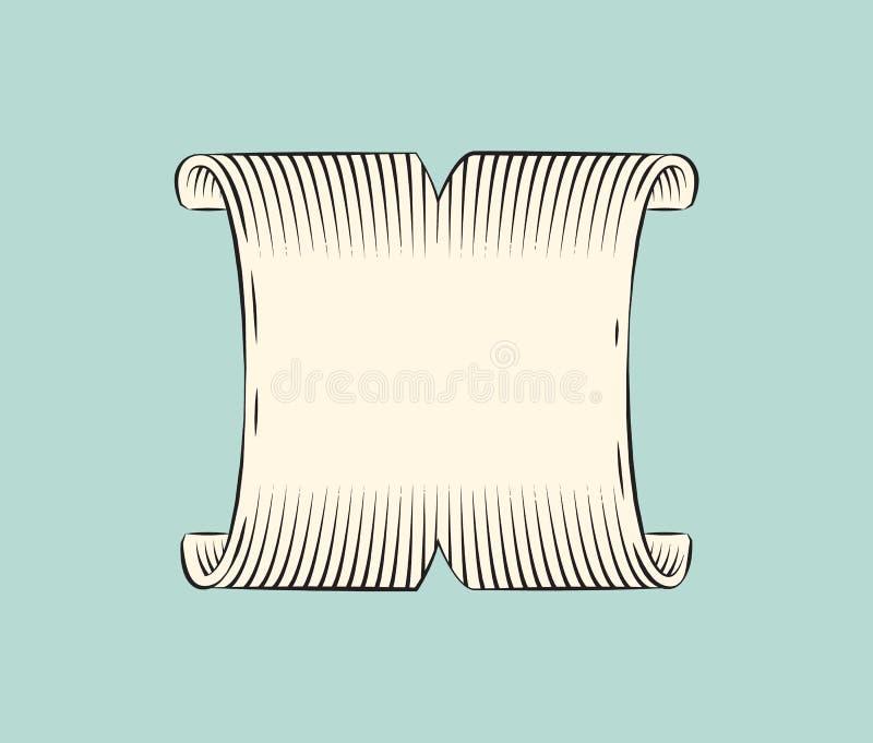 Band-breite Fahnen-Skizzen-Vektor-Illustration vektor abbildung
