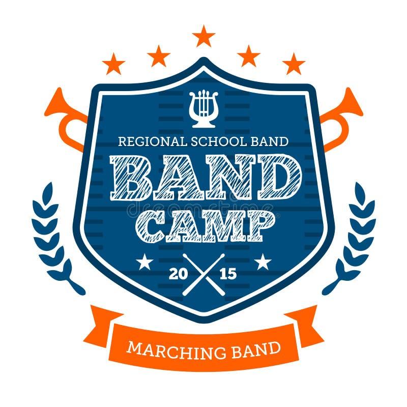 Free Band Camp Emblem Royalty Free Stock Photos - 32451348