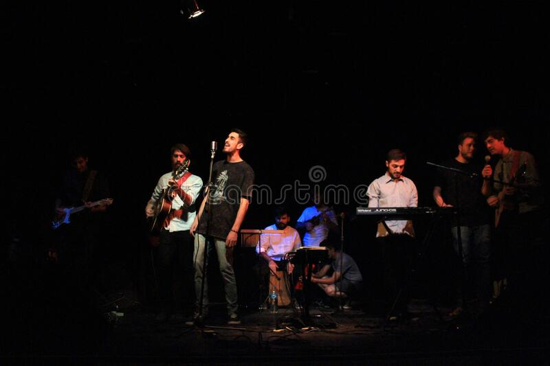 Band in concert royalty free stock photo