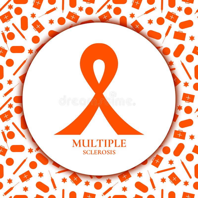 Band der multiplen Sklerose lizenzfreie abbildung
