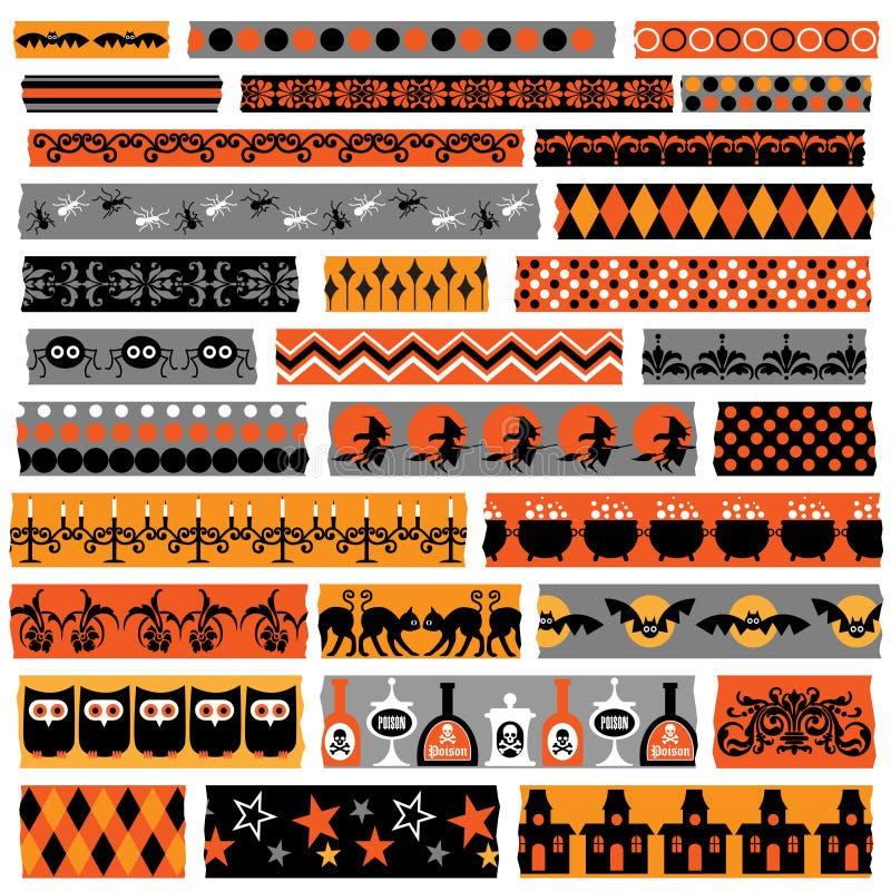 Band för allhelgonaaftonclipartwashi stock illustrationer