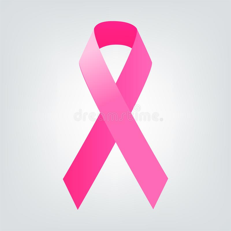 Band för bröstcancermedvetenhetrosa färger Kvinnasjukvårdbegrepp vektor illustrationer
