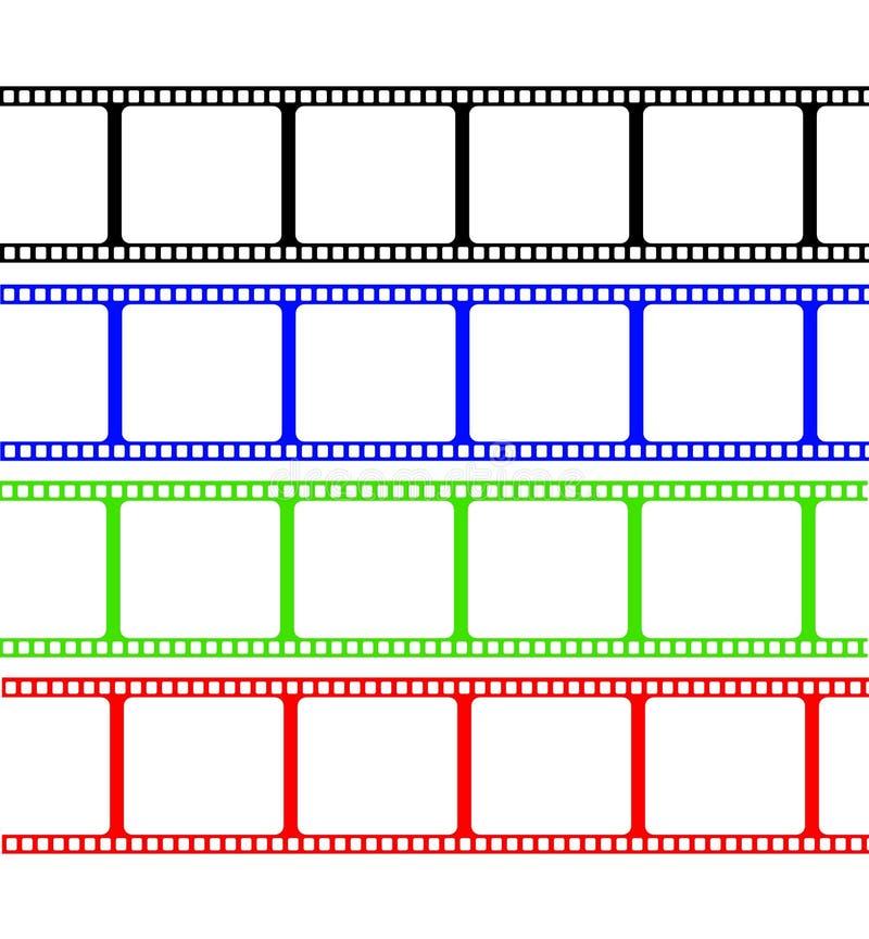band för färgfilm stock illustrationer
