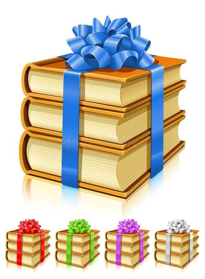 band för gåva för bokbowfärg stock illustrationer