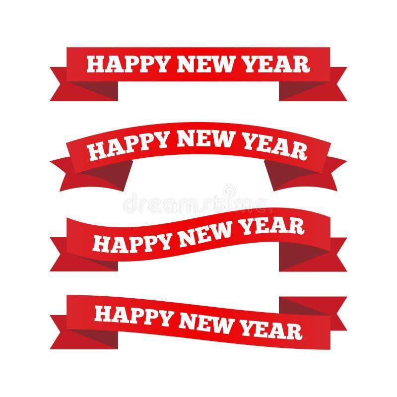Band för lyckligt nytt år royaltyfri illustrationer