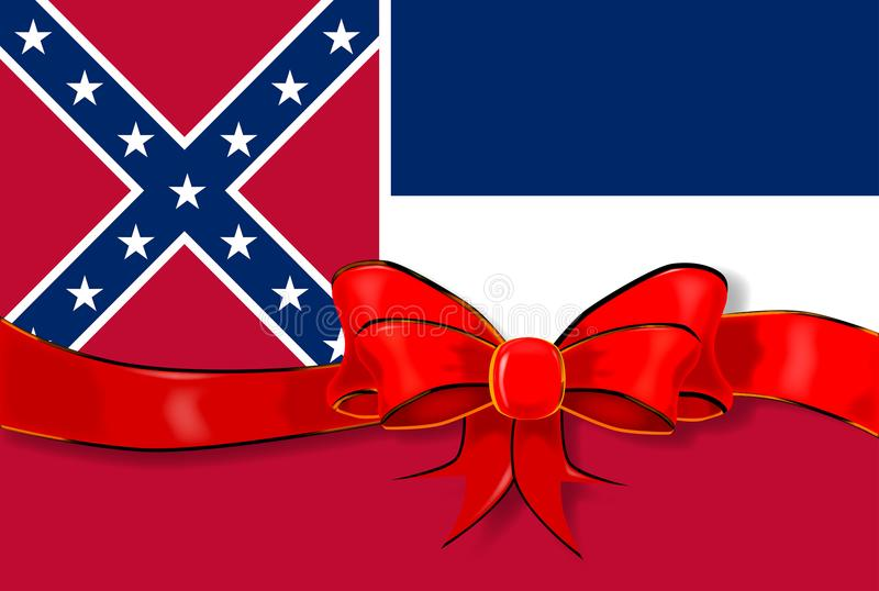 Band för Mississippi statflagga vektor illustrationer
