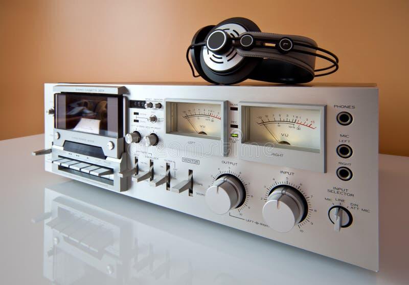 band för registreringsapparat för spelare för kassettdäck stereo- royaltyfria foton
