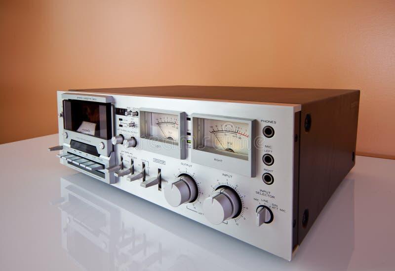 band för registreringsapparat för spelare för kassettdäck stereo- arkivbild