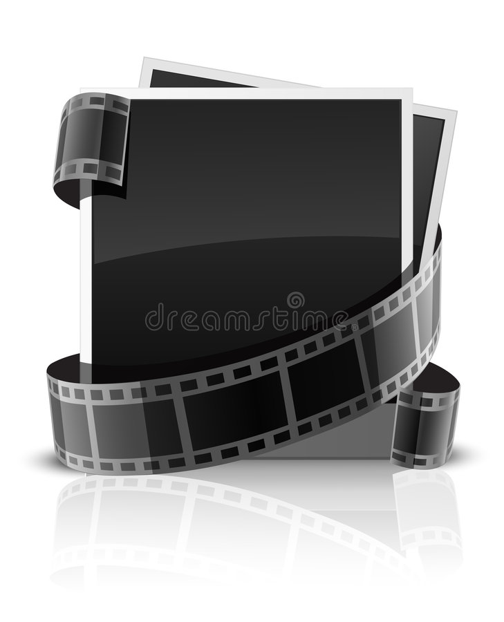 band för shots för foto s för kamera kort isolerat royaltyfri illustrationer