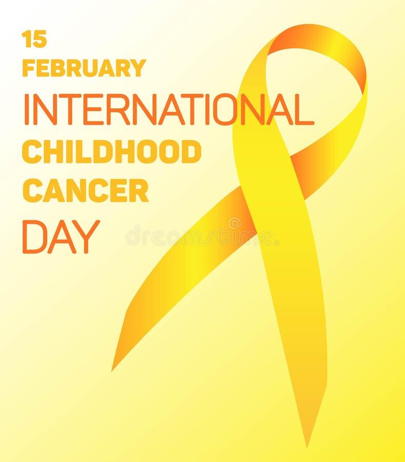 Band für die Welt-Kind-` s Tageskrebspatienten am 15. Februar stockfotografie