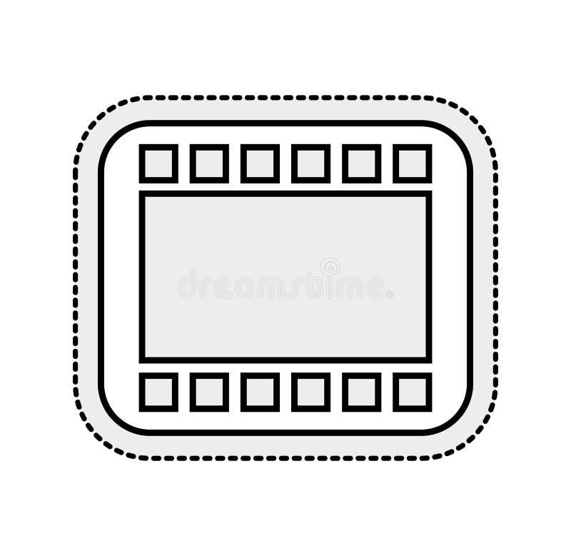 band fotografisch broodje geïsoleerd pictogram royalty-vrije illustratie