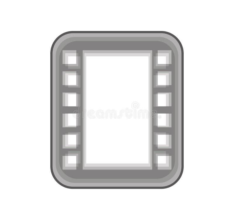 band fotografisch broodje geïsoleerd pictogram vector illustratie