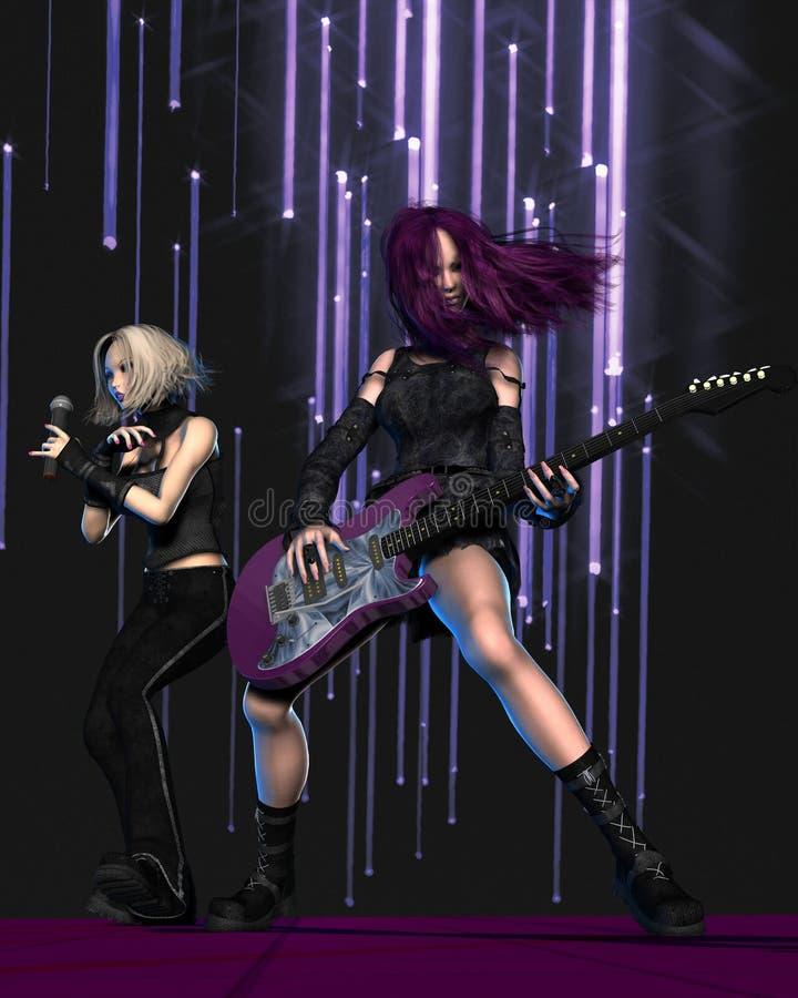 band girl goth stage διανυσματική απεικόνιση