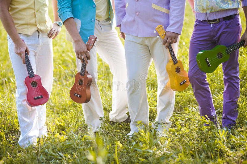 Band hawaiian ukulele stock photography