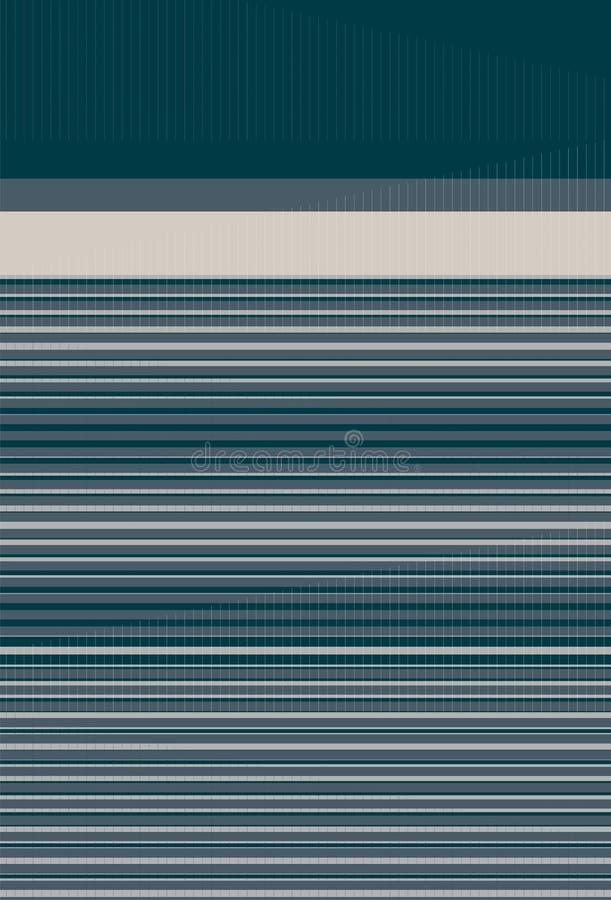 Band, i att gradera med effekt för 2 signal & över hela prack linjer i symmetri vektor illustrationer