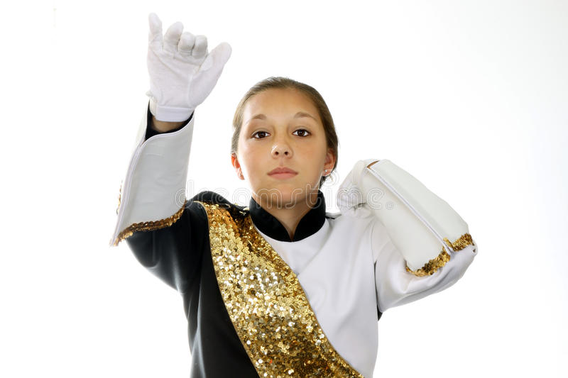 Download Band leader stock photo. Image of uniform, helmet, school - 20197794
