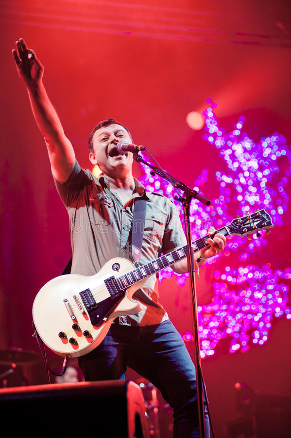 Band Manic Street Preachers plays at the festival