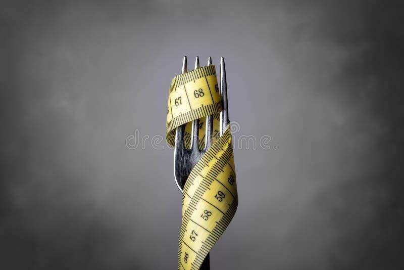 Band measer met vork stock afbeeldingen