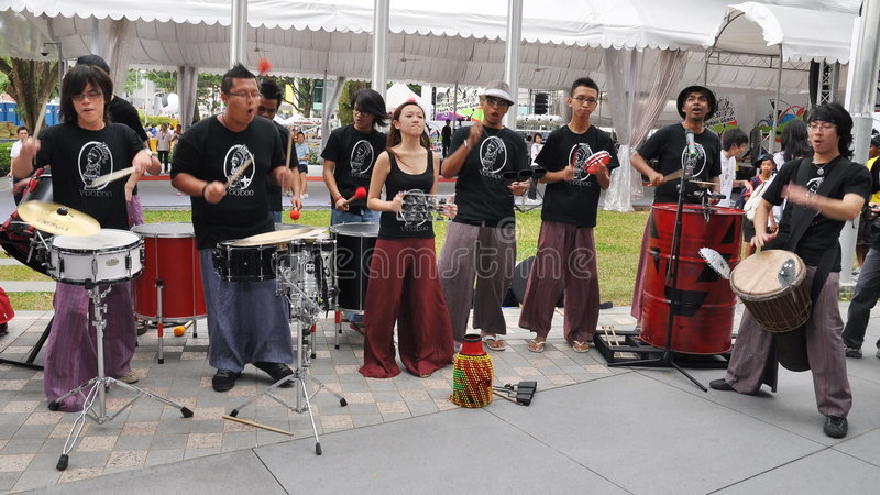 Download Band Performance During Youth Olympic Logo Launch Editorial Photography - Image: 7716782